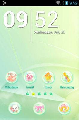 Daisy In Rainbow Icon Pack Android Theme Image 1