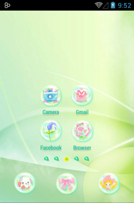 Daisy In Rainbow Icon Pack Android Theme Image 2