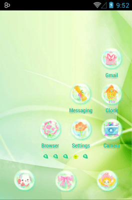 Daisy In Rainbow Icon Pack Android Theme Image 3