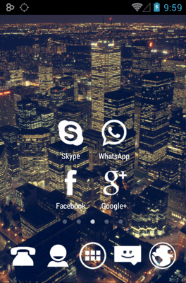 Stamped White Icon Pack Android Theme Image 2