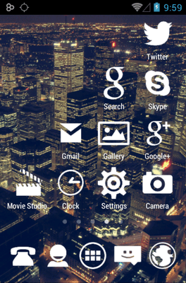 Stamped White Icon Pack Android Theme Image 3