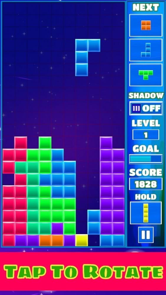Tetra Block Blitz Puzzle Android Game Image 1