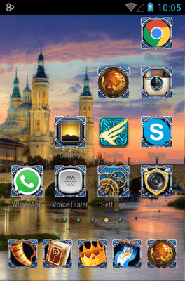 Blue Dragon Icon Pack Android Theme Image 3