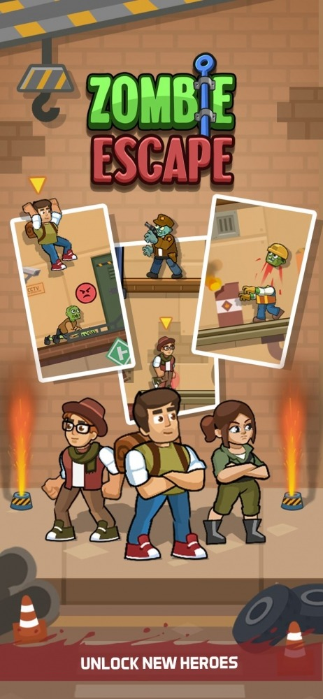 Zombie Escape: Pull The Pins & Save Your Friends! Android Game Image 1