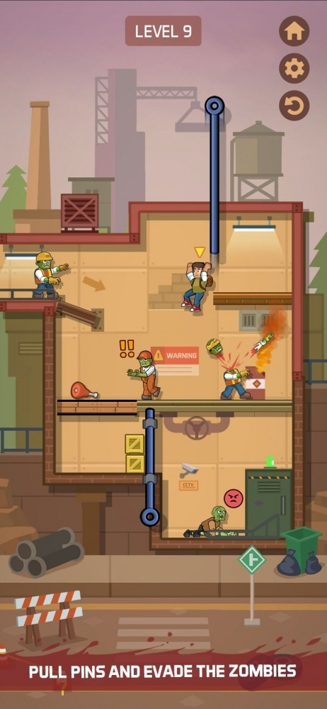 Zombie Escape: Pull The Pins & Save Your Friends! Android Game Image 2
