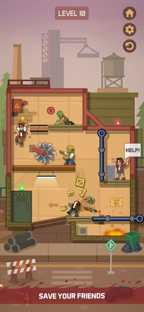 Zombie Escape: Pull The Pins & Save Your Friends! Android Game Image 3