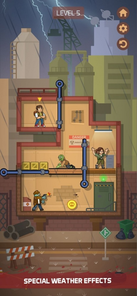 Zombie Escape: Pull The Pins & Save Your Friends! Android Game Image 4