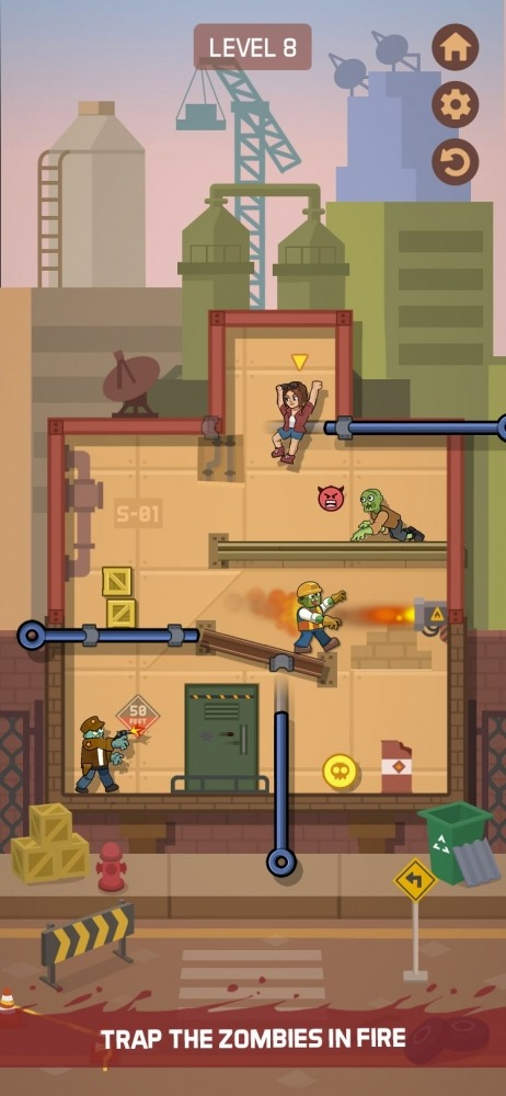 Zombie Escape: Pull The Pins & Save Your Friends! Android Game Image 5