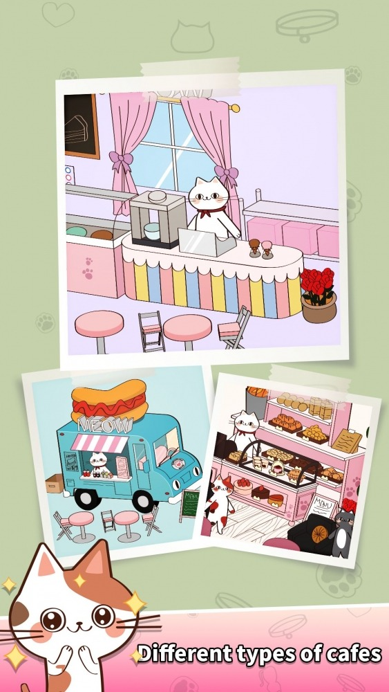 Cat Merge Cafe - Dessert Puzzle Android Game Image 1