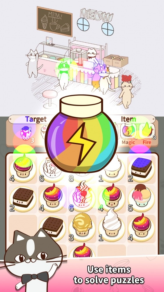 Cat Merge Cafe - Dessert Puzzle Android Game Image 4