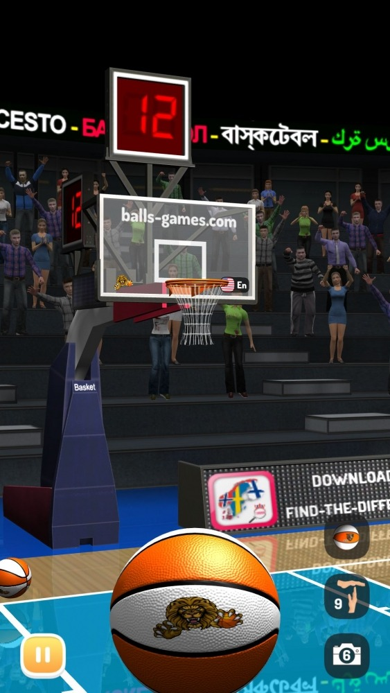 Basketball 3D Shooting Contest, Real Free Shootout Android Game Image 1