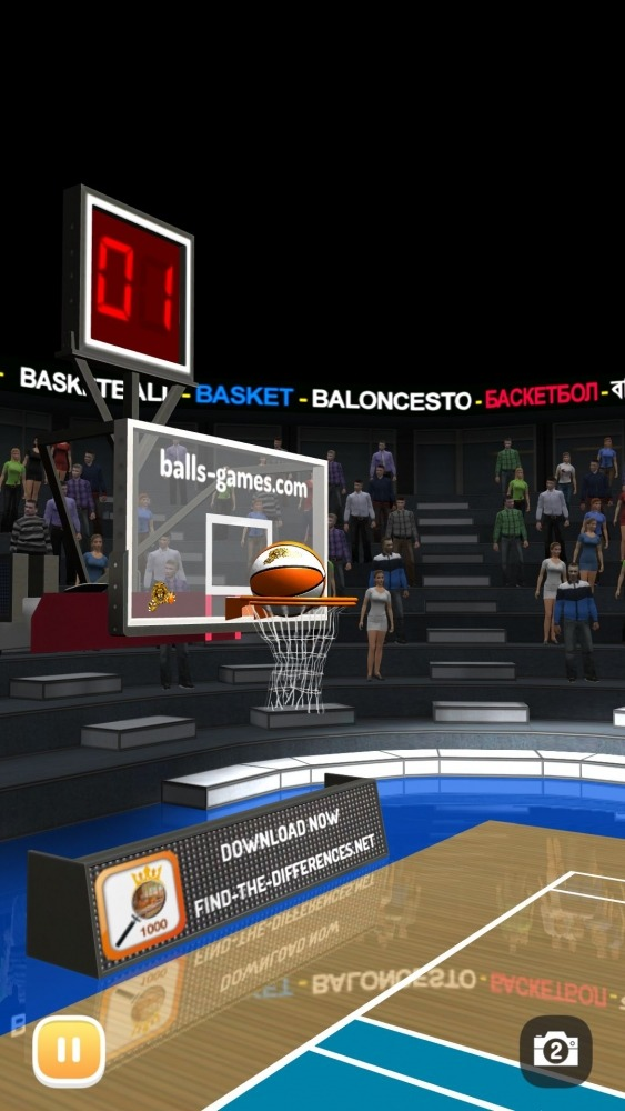 Basketball 3D Shooting Contest, Real Free Shootout Android Game Image 3