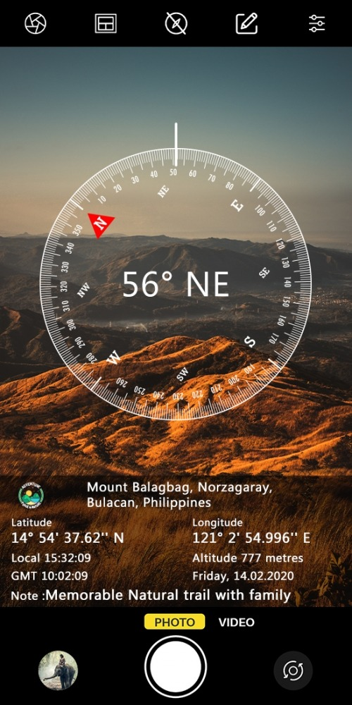 GPS Map Camera Lite: Geotag Photo Location Android Application Image 1