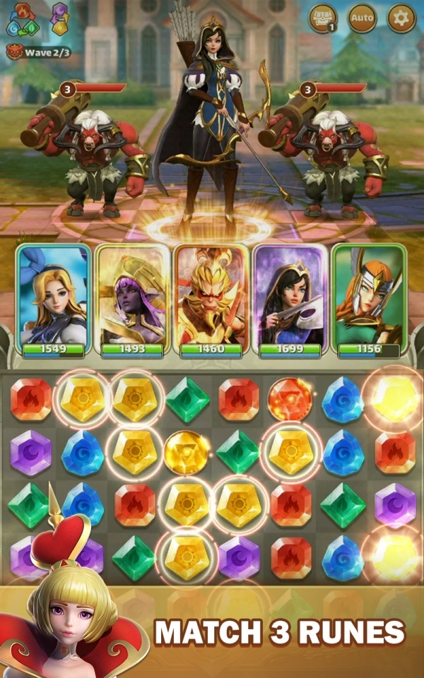 Legend Of Runes: Puzzle RPG Android Game Image 1