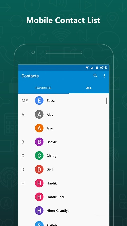 Export Contacts For WhatsApp Android Application Image 4