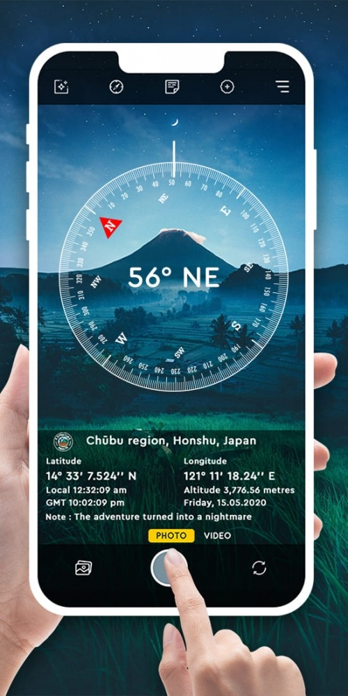 GPS Map Camera Lite For Photo Location & Timestamp Android Application Image 1