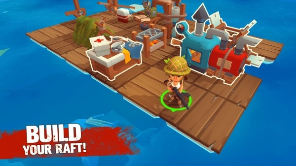 Grand Survival - Zombie Raft Survival Games Android Game Image 1