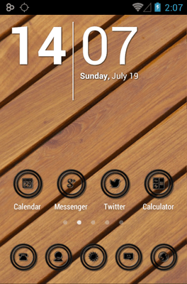 Black Circle Icon Pack Android Theme Image 1