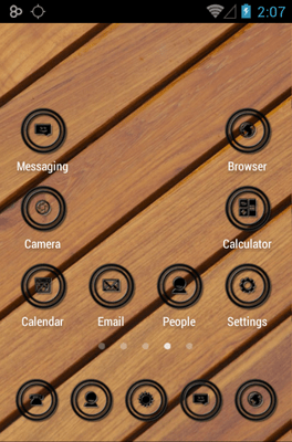 Black Circle Icon Pack Android Theme Image 3