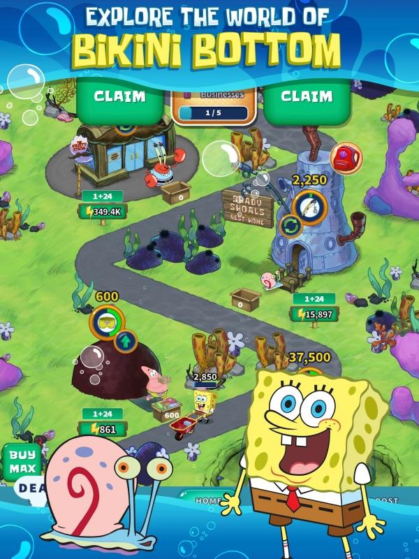 SpongeBob's Idle Adventures Android Game Image 1