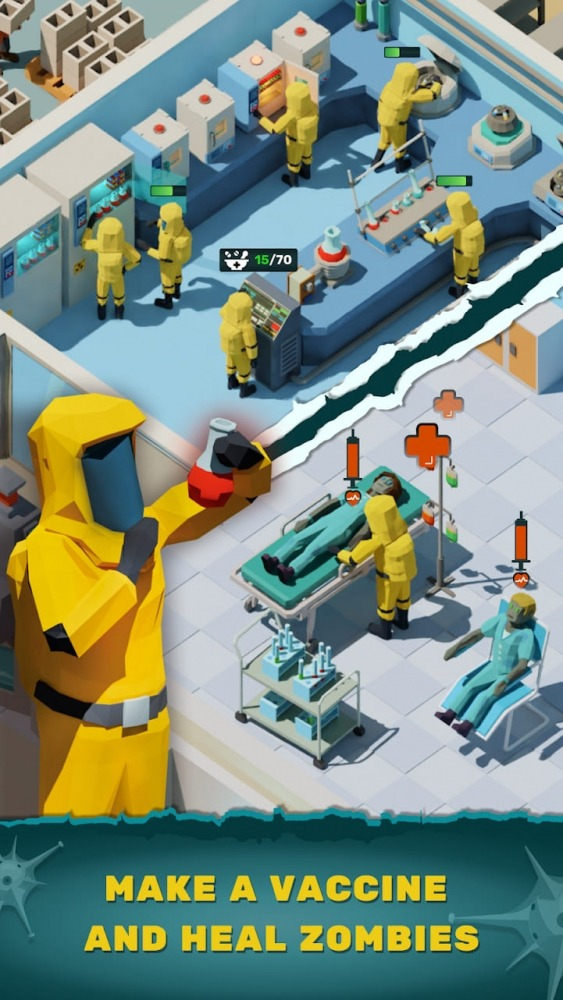 Zombie Hospital Tycoon: Idle Management Game Android Game Image 1