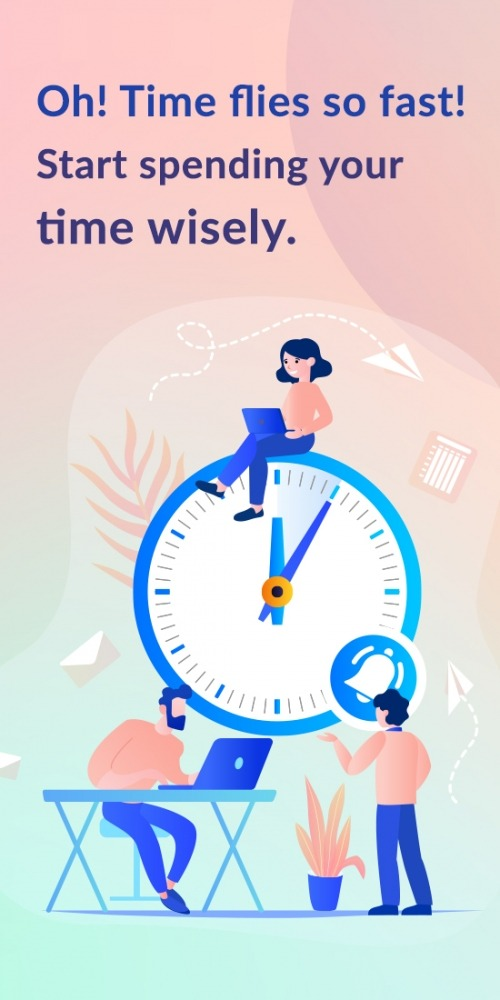 Hourly Chime: Time Manager & Hours Timer Clock Android Application Image 1