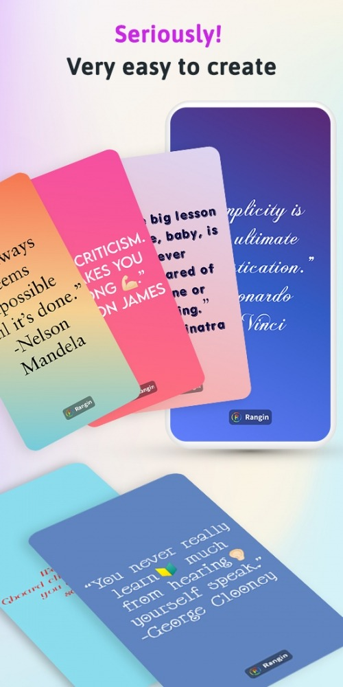 Rangin: Gradient Status Quotes Maker For WhatsApp Android Application Image 1