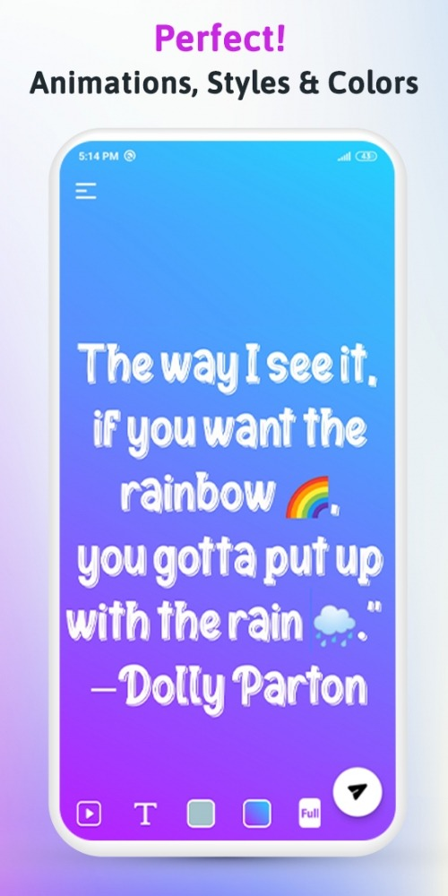 Rangin: Gradient Status Quotes Maker For WhatsApp Android Application Image 4