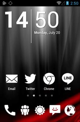 Big White Minimal Icon Pack Android Theme Image 1