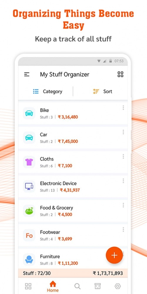 My Stuff Organizer: For Home Inventory Management Android Application Image 1