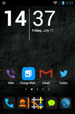 HD Dark Icon Pack Android Theme Image 1