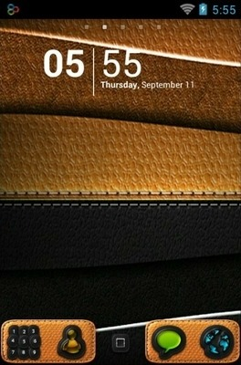 Leathe Go Launcher Android Theme Image 1