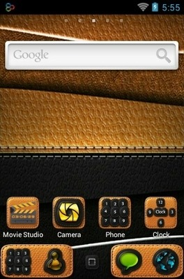 Leathe Go Launcher Android Theme Image 2