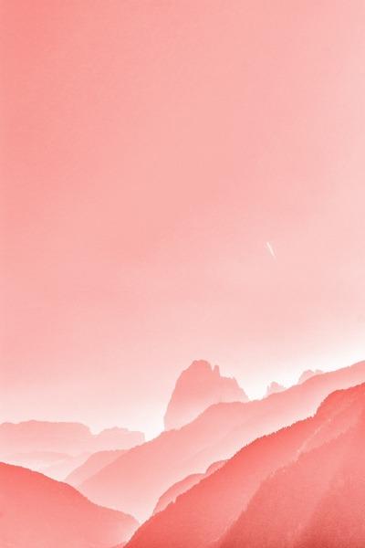 Pink Mountains Mobile Phone Wallpaper Image 1