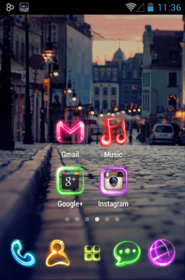 Tonight Go Launcher Android Theme Image 2