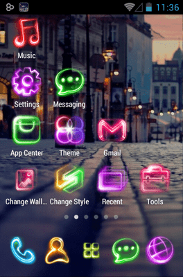 Tonight Go Launcher Android Theme Image 3