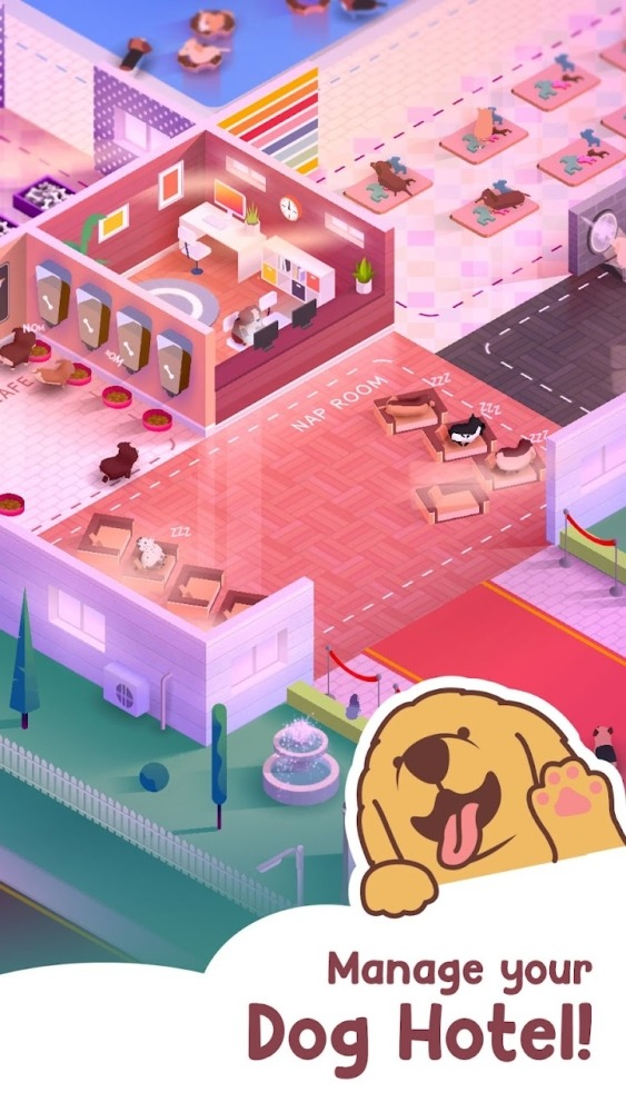 Dog Hotel Tycoon Android Game Image 1