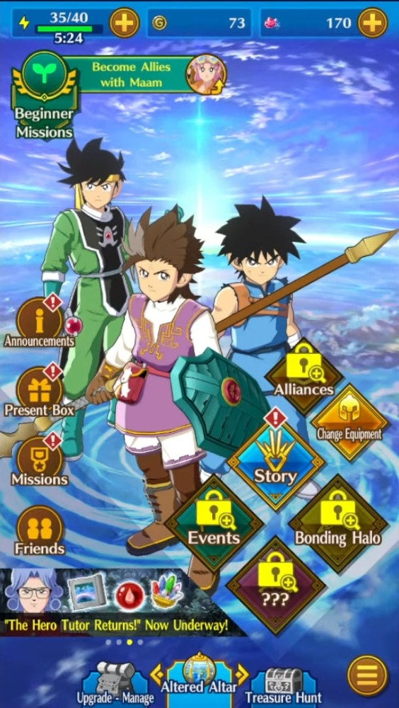 DQ Dai: A Hero's Bonds Android Game Image 1