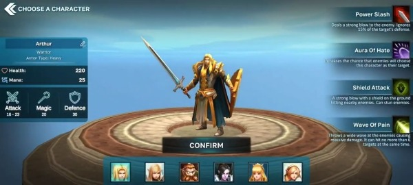 Fantasy Heroes: Legendary Raid RPG Action Offline Android Game Image 1