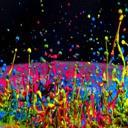 Dancing Colors  Mobile Phone Wallpaper