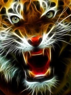 Download Free Mobile Phone Wallpaper Fractal Tiger 722