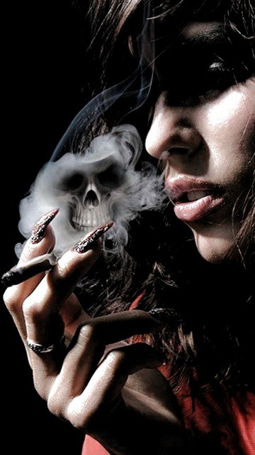 Smoke Skull  Mobile Phone Wallpaper
