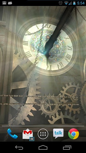 Clock Tower 3D Android Mobile Phone Wallpaper