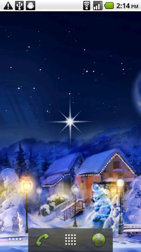 Christmas Silent Night Android Mobile Phone Wallpaper
