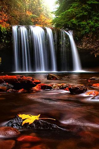 Download Free 3d Waterfall Android Mobile Phone Wallpaper