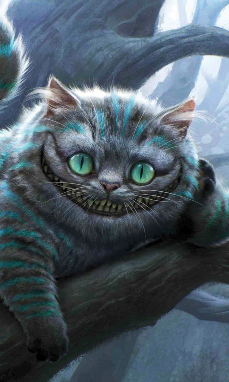 Cheshire Cat  Mobile Phone Wallpaper