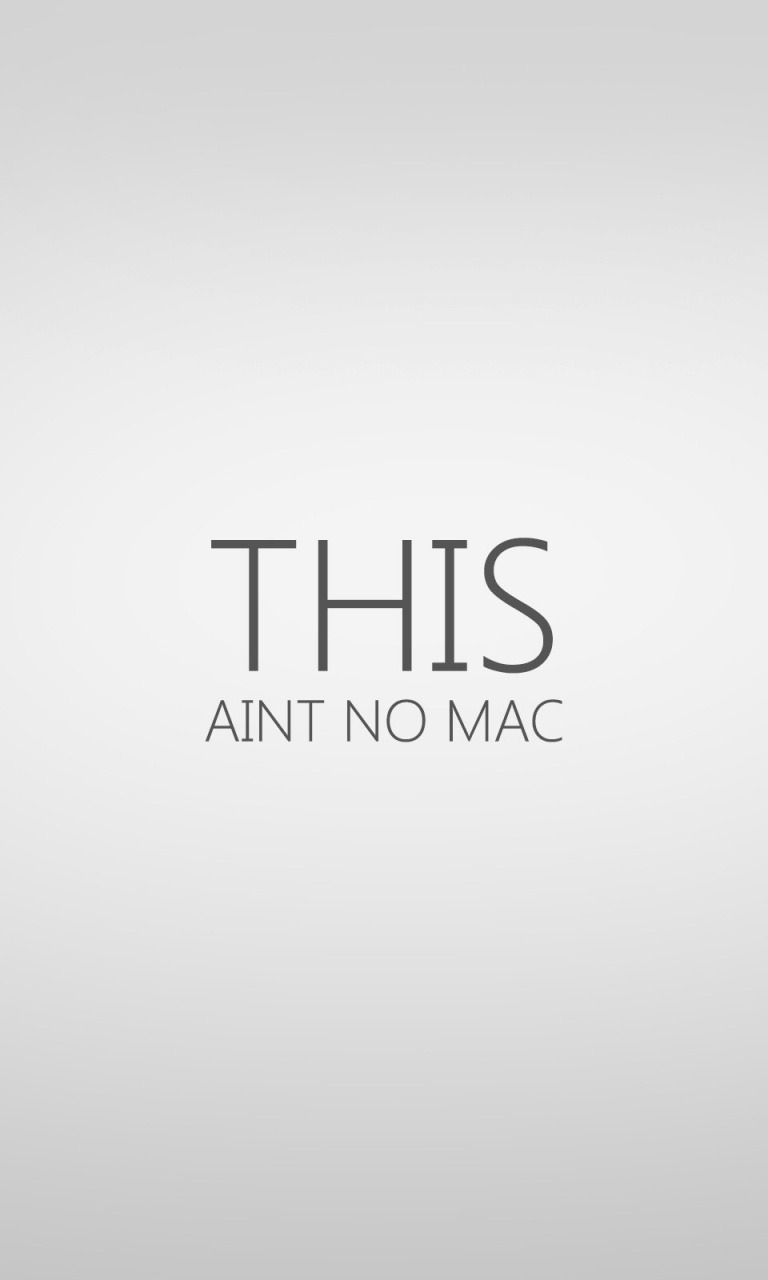 This Aint No Mac