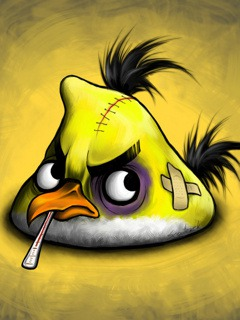 Angry Bird QMobile E7 Wallpaper