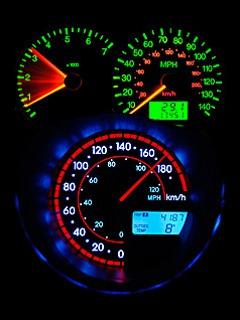 Speedometer Neon  Mobile Phone Wallpaper