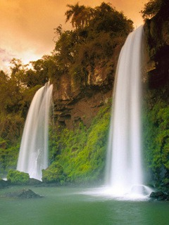 3d Waterfall QMobile M400 Wallpaper